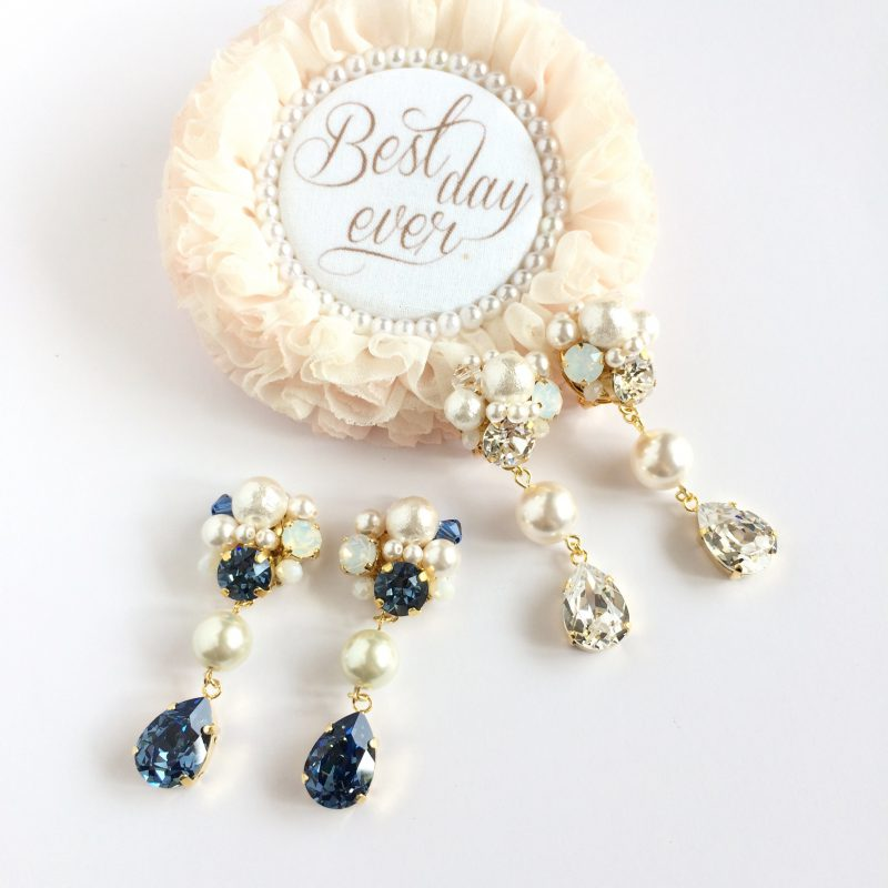 Drop earring bridal color