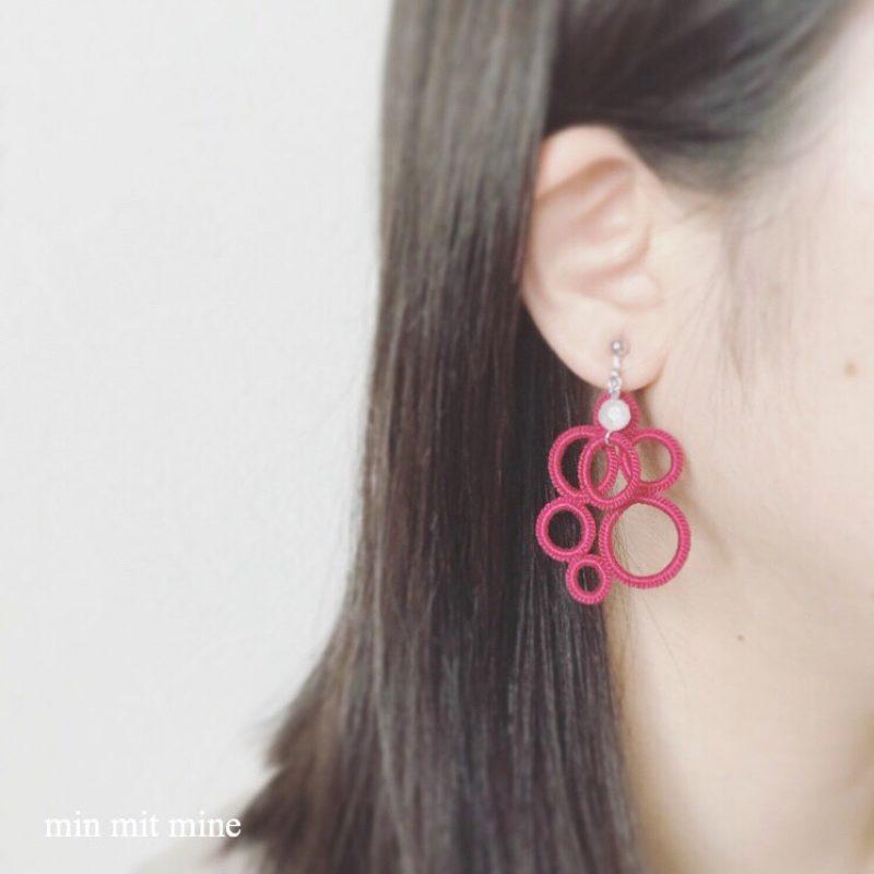 ベリー摘みの耳飾り着画(min mit mine)